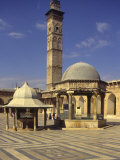 Courtyard with Fountains and Minaret Beyond, Jami'A Zaqarieh Grand Mosque, Aleppo, Syria Photographic Print by Eitan Simanor