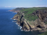 Cliffs Looking East from Near Crabbe of North Coast St. Mary, Jersey, Channel Islands Photographic Print by David Hunter