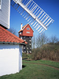 House in the Clouds, with Mill Sail, Thorpeness, Suffolk, England, United Kingdom Photographic Print by David Hunter