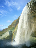 Seljalandsfoss Waterfall, Southern Area, Iceland, Polar Regions Photographic Print by Simon Harris