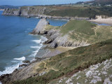 Pobbles Beach from the Pennard Cliffs, Gower, Wales, United Kingdom Photographic Print by David Hunter