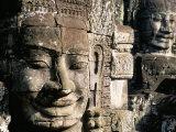 Bayon Temple, Angkor, Unesco World Heritage Site, Siem Reap, Cambodia, Indochina Photographic Print by Bruno Morandi
