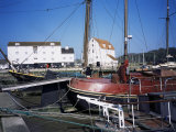 Quayside, Boats and Tidal Mill, Woodbridge, Suffolk, England, United Kingdom Photographic Print by David Hunter