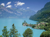 View Over Lake Brienz to Iseltwald, Switzerland Photographic Print by Simon Harris