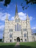 West Front, Salisbury Cathedral, Salisbury, Wiltshire, England, United Kingdom Photographic Print by David Hunter