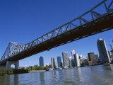 The Storey Bridge and City Skyline Across the Brisbane River, Brisbane, Queensland, Australia Photographic Print by Mark Mawson