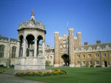 Great Court, Fountain and Great Gate, Trinity College, Cambridge, Cambridgeshire, England Photographic Print by David Hunter