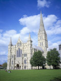 Salisbury Cathedral from the Southwest, Salisbury, Wiltshire, England, United Kingdom Photographic Print by David Hunter