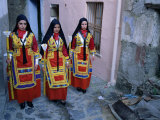 Women Holding Candles, Corpus Domini Procession, Desulo (Gennargentu), Sardinia, Italy Photographic Print by Bruno Morandi