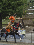 Traditional Costume and Horse, Ceremony for Archery Festival, Tokyo, Japan Fotografisk trykk av Christian Kober