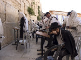 Praying at the Western (Wailing) Wall, Old Walled City, Jerusalem, Israel, Middle East Photographic Print by Christian Kober