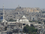City Mosque and the Citadel, Aleppo (Haleb), Syria, Middle East Fotografisk trykk av Christian Kober