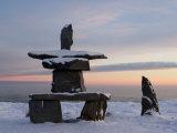 Inukshuk, Inuit Stone Landmark, Churchill, Hudson Bay, Manitoba, Canada Photographic Print by Thorsten Milse