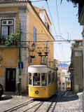 Funicular at Elevador Da Bica, Lisbon, Portugal Photographic Print by Yadid Levy