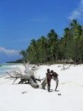 Zanzibari Boys Playing on Pingwe Beach, Zanzibar, Tanzania, East Africa, Africa Photographic Print by Yadid Levy