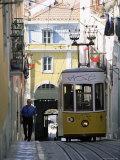 Funicular at Elevador Da Bica, Lisbon, Portugal Photographic Print by Yadid Levy