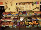 Fruit Displayed Outside Shop, Calvi, Corsica, France Photographic Print by Yadid Levy