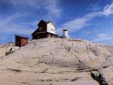 The Lighthouse on Stora Svangen, off the Island of Reso, Bohuslan, Sweden, Scandinavia Photographic Print by Kim Hart