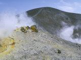 The Crater on Vulcano, Aeolian Islands, Unesco World Heritage Site, Island of Sicily, Italy Impressão fotográfica por Kim Hart