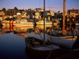 Sundown Over South Harbour, Village of Fjallbacka, Bohuslan, Sweden, Scandinavia Photographic Print by Kim Hart