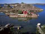 Summer Cottage on the West Side of Sandefjordsfjord, Vestfold, Norway, Scandinavia Photographic Print by Kim Hart
