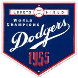 Dodgers-1955 Plaque en métal