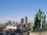 View of Downtown from State Capitol, Des Moines, Iowa, USA Photographic Print by Michael Snell