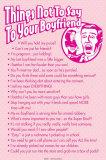 Ce qu'il ne faut pas dire à son petit-ami Posters