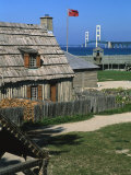 Colonial Michilimackinac, Mackinaw City, Michigan, USA Photographic Print by Michael Snell