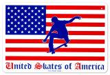 United Skates Of America Blikskilt