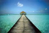Aanlegsteiger op de Maldiven Posters van Massimo Borchi