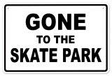Skate Park Plåtskylt