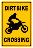 Dirtbike Crossing Placa de lata
