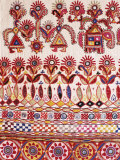 Traditional Rabari Tribal Embroidered Fabrics, Kutch, Gujarat State, India Reproduction photographique par John Henry Claude Wilson