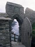 Doorway, Tintagel Castle, Cornwall, England, United Kingdom Photographic Print by Adam Woolfitt