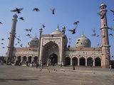The Jama Masjid (Friday Mosque), Old Delhi, Delhi, India Reproduction photographique par John Henry Claude Wilson