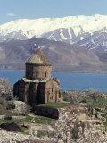 Armenian Church of Holy Cross, Akdamar Island, Lake Van, Anatolia, Turkey Photographic Print by Adam Woolfitt