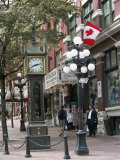 Steam Clock in Gastown, Vancouver, British Columbia, Canada Reproduction photographique par Alison Wright