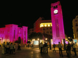 Place d'Etoile at Night, Beirut, Lebanon, Middle East Reproduction photographique par Alison Wright