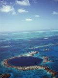 Blue Hole, Lighthouse Reef, Belize, Central America Premium-Fotodruck von  Upperhall