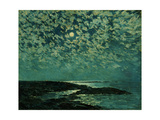 Moonlight, Isle of Shoals, 1892 Giclée-tryk af Childe Hassam