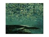 Moonlight, Isle of Shoals, 1892 ジクレープリント : ハッサム・チャイルド