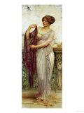 The Purple Scarf, 1913 Giclée-tryk af Cristofano Allori