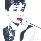 Audrey Hepburn Kunstdruck von Bob Celic