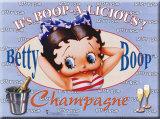 Betty Boop Plaque en métal
