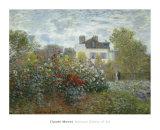 The Artist's Garden in Argenteuil, c.1873 Poster von Claude Monet