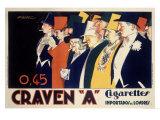 Craven A Cigarettes Giclee Print by Achille Luciano Mauzan