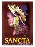 Sancta, Liqueur Merveilleuse Giclée-vedos tekijänä Leonetto Cappiello