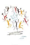 Danzende jeugd Posters van Pablo Picasso