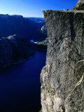 Preikestolen 600M Above Lysefjord, Lysefjord, Rogaland, Norway Reproduction photographique par Anders Blomqvist